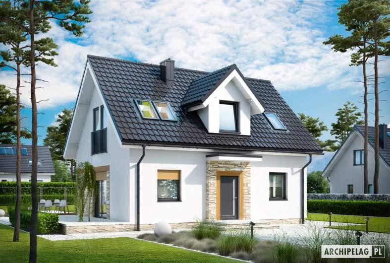Projekt domu Witek - wizualizacja frontowa