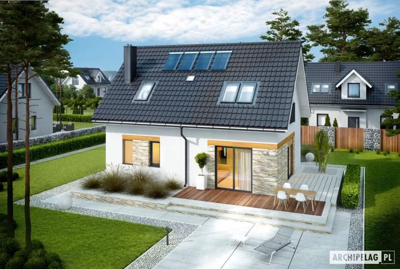 Projekt domu Witek - widok z góry