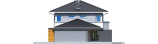Projekt domu Rodrigo II G1 - elewacja prawa
