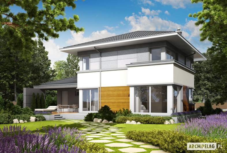 Projekt domu Rodrigo II G1 - wizualizacja ogrodowa