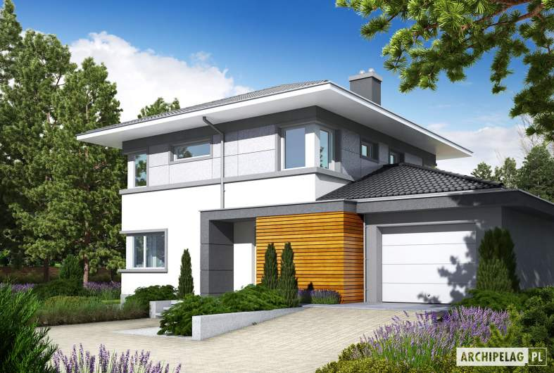 Projekt domu Rodrigo II G1 - wizualizacja frontowa