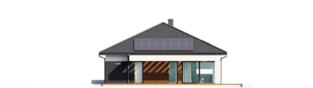 Projekt domu Alison III G2 ENERGO PLUS - elewacja tylna