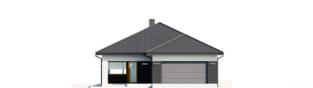 Projekt domu Alison III G2 ENERGO PLUS - elewacja frontowa