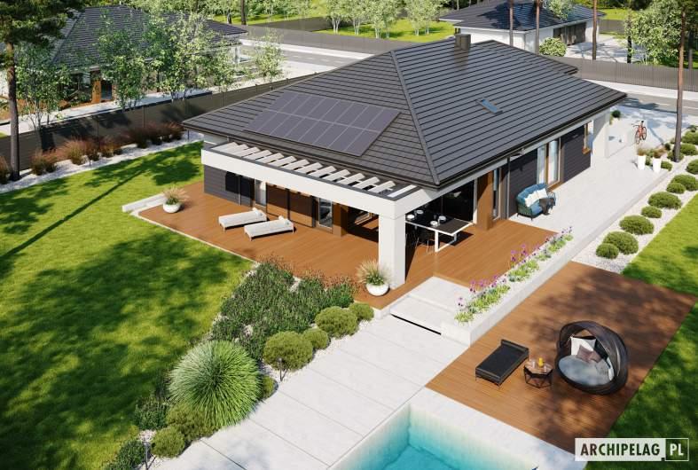 Projekt domu Alison III G2 ENERGO PLUS - widok z góry