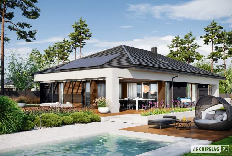 Projekt domu Alison III G2 ENERGO PLUS - wizualizacja ogrodowa
