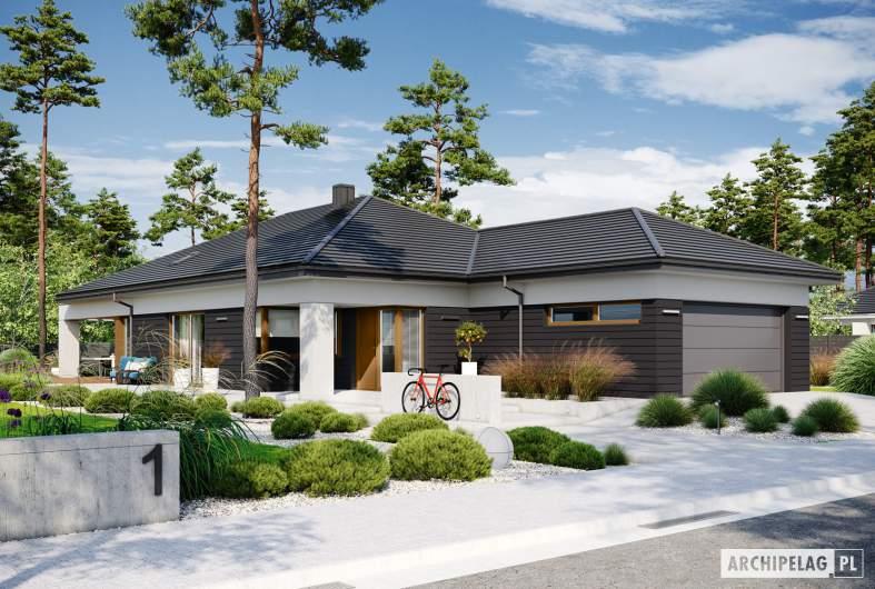 Projekt domu Alison III G2 ENERGO PLUS - wizualizacja frontowa