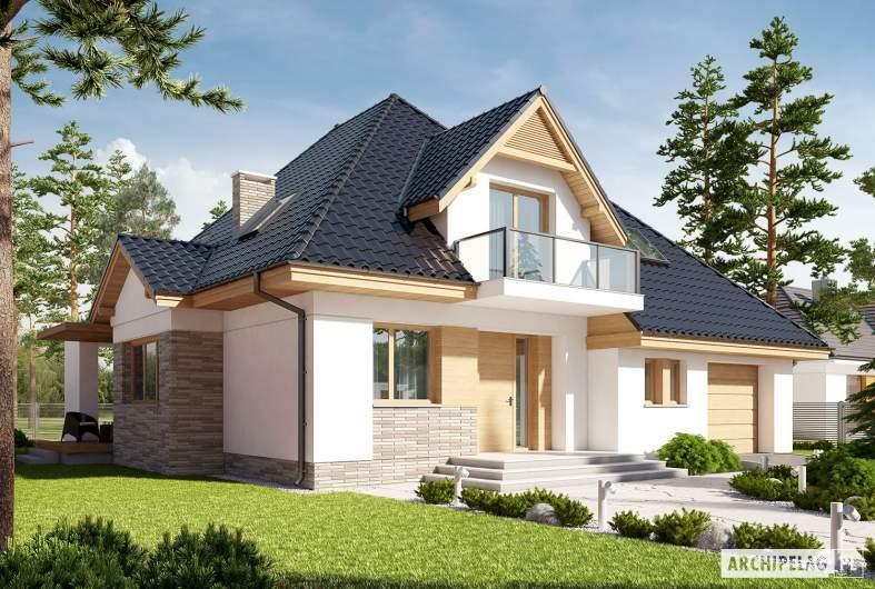Projekt domu Amira G1 - wizualizacja frontowa