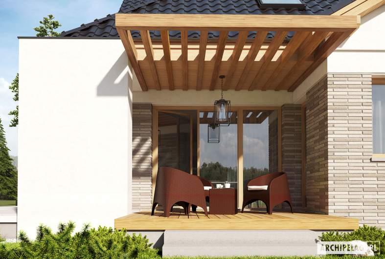 Projekt domu Amira G1 - wizualizacja detal taras