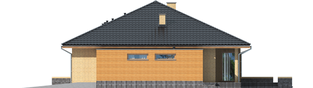 Projekt domu Antonio G1 - elewacja prawa