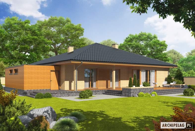 Projekt domu Antonio G1 - wizualizacja ogrodowa