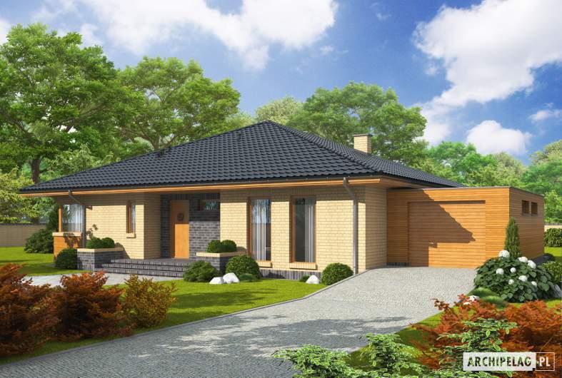 Projekt domu Antonio G1 - wizualizacja frontowa