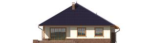 Projekt domu Lote G2 - elewacja tylna
