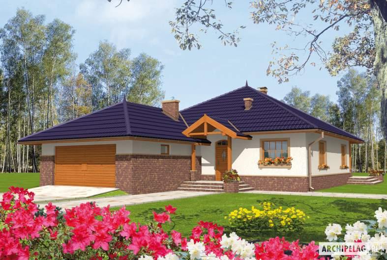 Projekt domu Lote G2 - wizualizacja fronowa