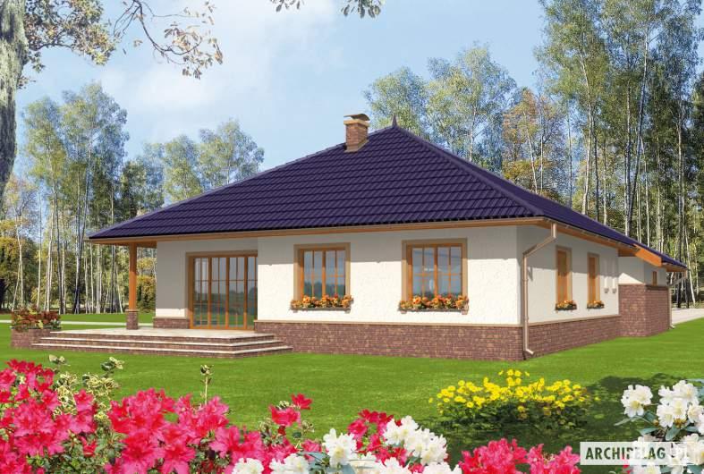Projekt domu Lote G2 - wizualizacja ogrodowa