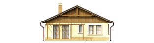 Projekt domu Bogna III - elewacja tylna