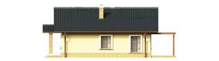 Projekt domu Bogna III - elewacja prawa