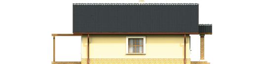 Bogna III - Projekt domu Bogna III - elewacja lewa