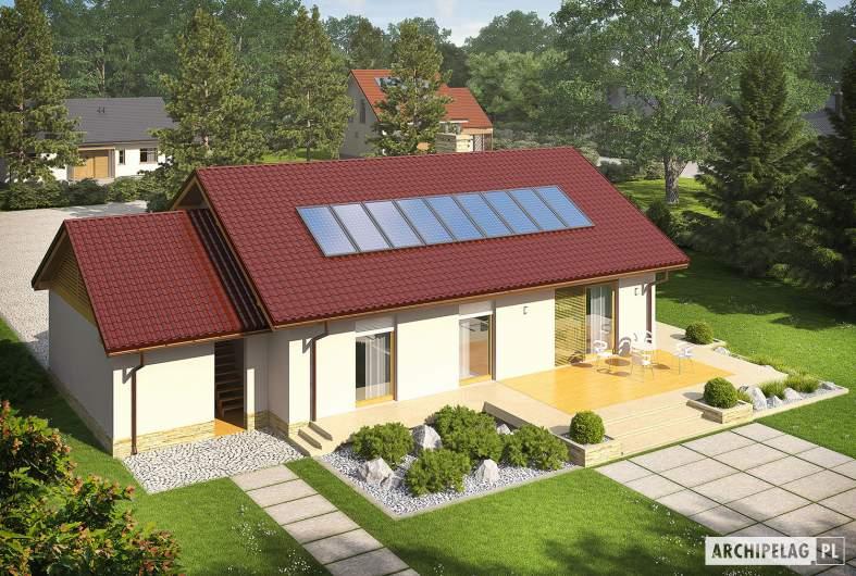 Projekt domu Kornel III G1 ENERGO - widok z góry