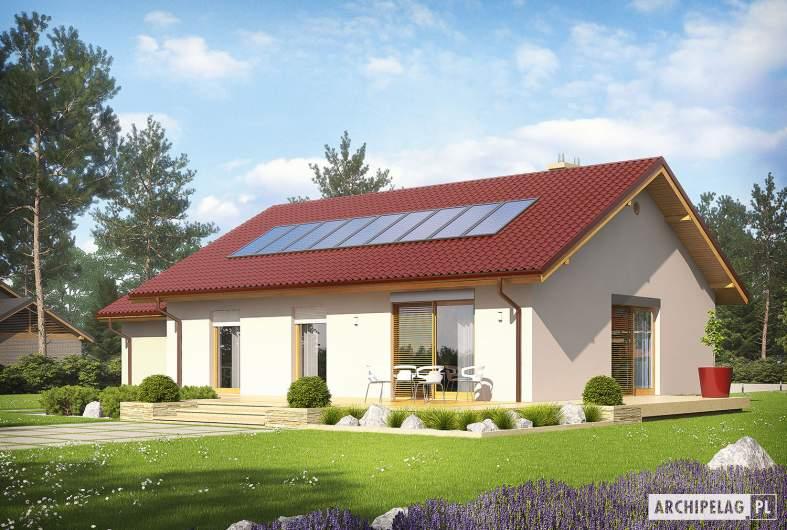 Projekt domu Kornel III G1 ENERGO - wizualizacja ogrodowa