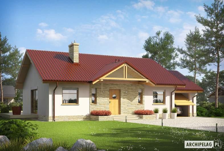 Projekt domu Kornel III G1 ENERGO - wizualizacja frontowa