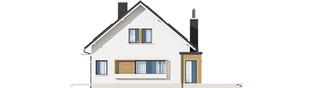Projekt domu Miłosz ENERGO - elewacja prawa