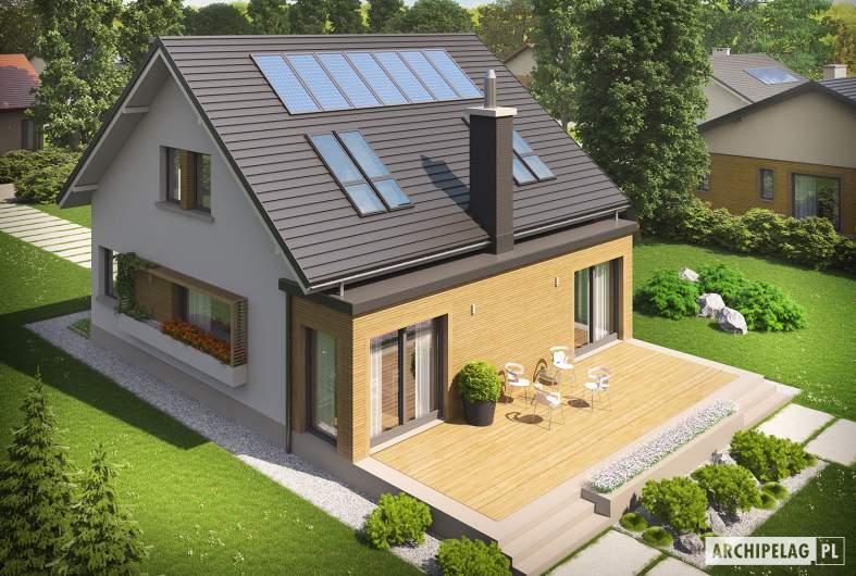 Projekt domu Miłosz ENERGO - wizualizacja frontowa
