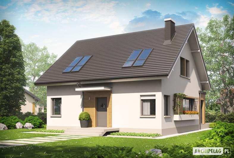 Projekt domu Miłosz ENERGO - widok z góry