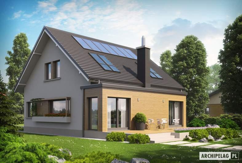 Projekt domu Miłosz ENERGO - wizualizacja ogrodowa