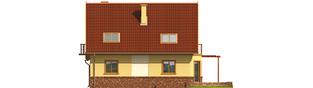 Projekt domu Mila G1 - elewacja tylna