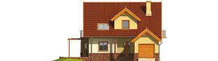 Projekt domu Mila G1 - elewacja frontowa