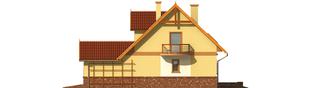 Projekt domu Mila G1 - elewacja prawa