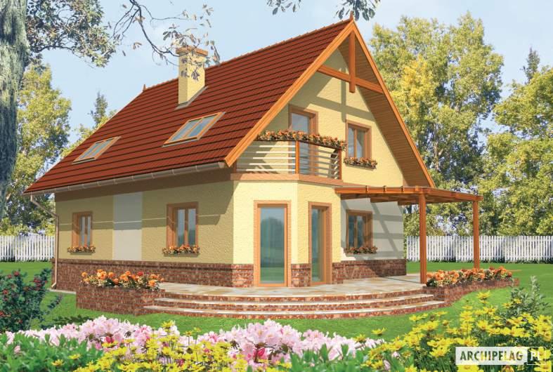 Projekt domu Mila G1 - wizualizacja ogrodowa