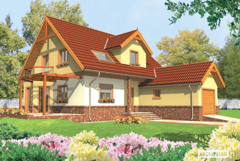 Projekt domu Mila G1 - wizualizacja frontowa