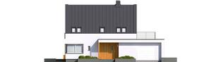 Projekt domu Lars G1 (wersja B) ENERGO PLUS - elewacja frontowa