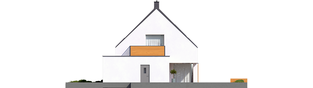 Projekt domu Lars G1 (wersja B) ENERGO PLUS - elewacja prawa