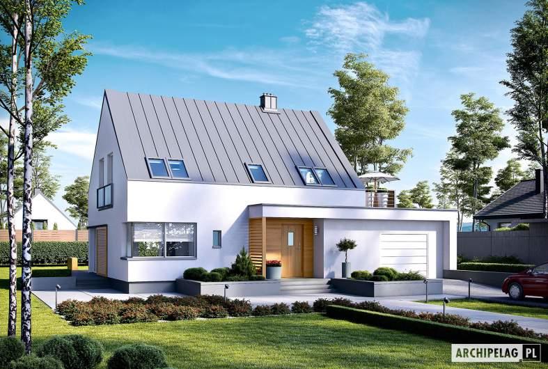 Projekt domu Lars G1 (wersja B) ENERGO PLUS - wizualizacja frontowa