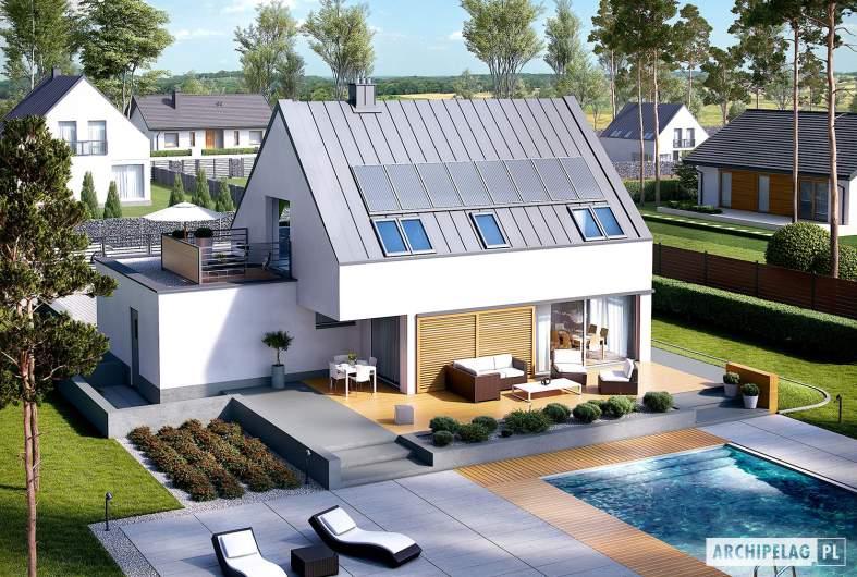 Projekt domu Lars G1 (wersja B) ENERGO PLUS - widok z góry