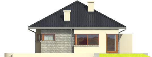 Tori II - Projekt domu Tori II - elewacja prawa