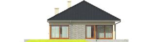 Projekt domu Tori II - elewacja tylna