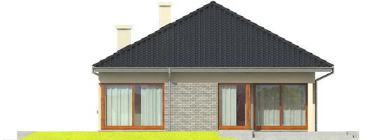 Tori II - Projekt domu Tori II - elewacja tylna