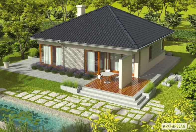 Projekt domu Tori II - widok z góry