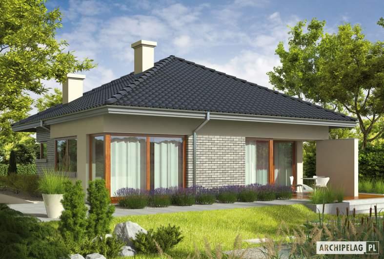 Projekt domu Tori II - wizualizacja ogrodowa