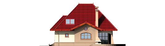 Zusman G1 - Projekt domu Zuzia (z wiatą) - elewacja lewa