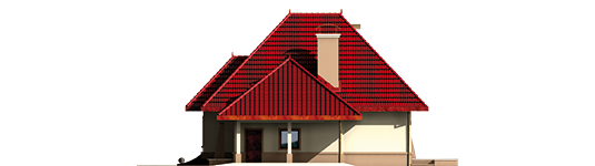 Zusman G1 - Projekt domu Zuzia (z wiatą) - elewacja prawa