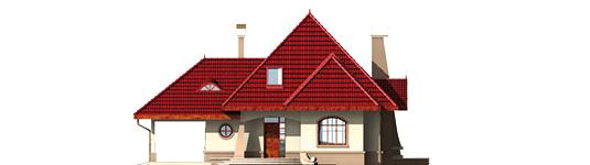 Zusman G1 - Projekt domu Zuzia (z wiatą) - elewacja frontowa