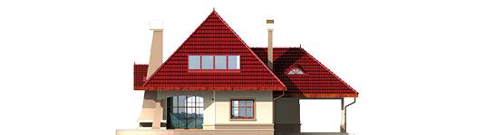 Zusman G1 - Projekt domu Zuzia (z wiatą) - elewacja tylna