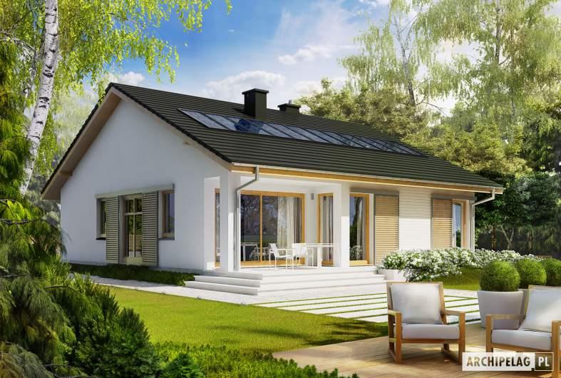 Projekt domu Rafael III - wizualizacja ogrodowa