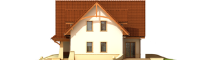 Projekt domu Helka - elewacja prawa