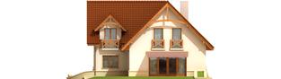 Projekt domu Helka - elewacja tylna