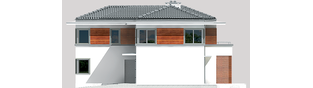 Projekt domu Tom G1 - elewacja prawa